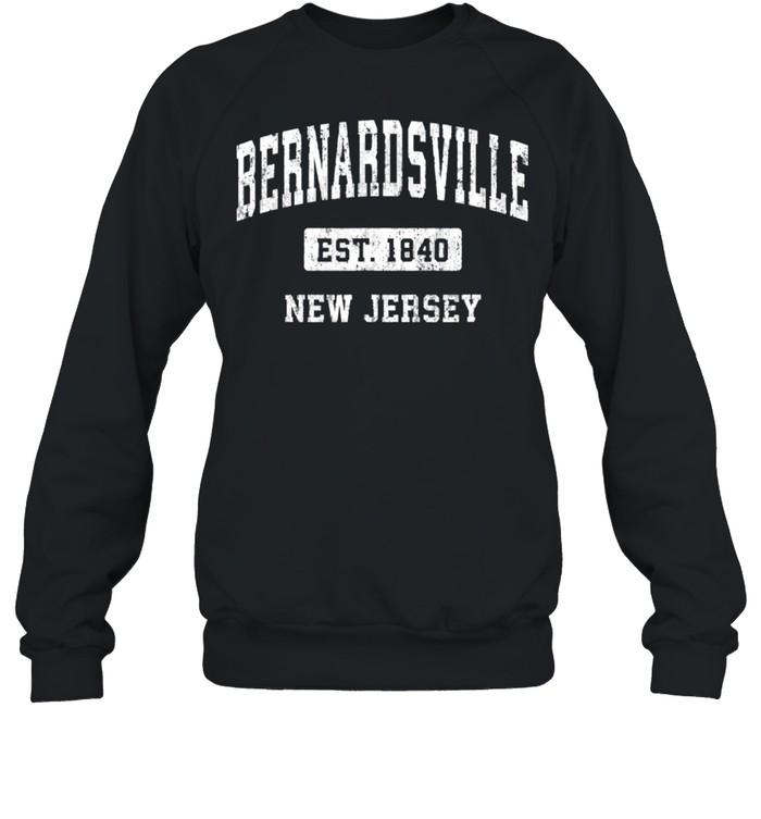 Bernardsville New Jersey NJ Vintage Sports Established Desig shirt Unisex Sweatshirt