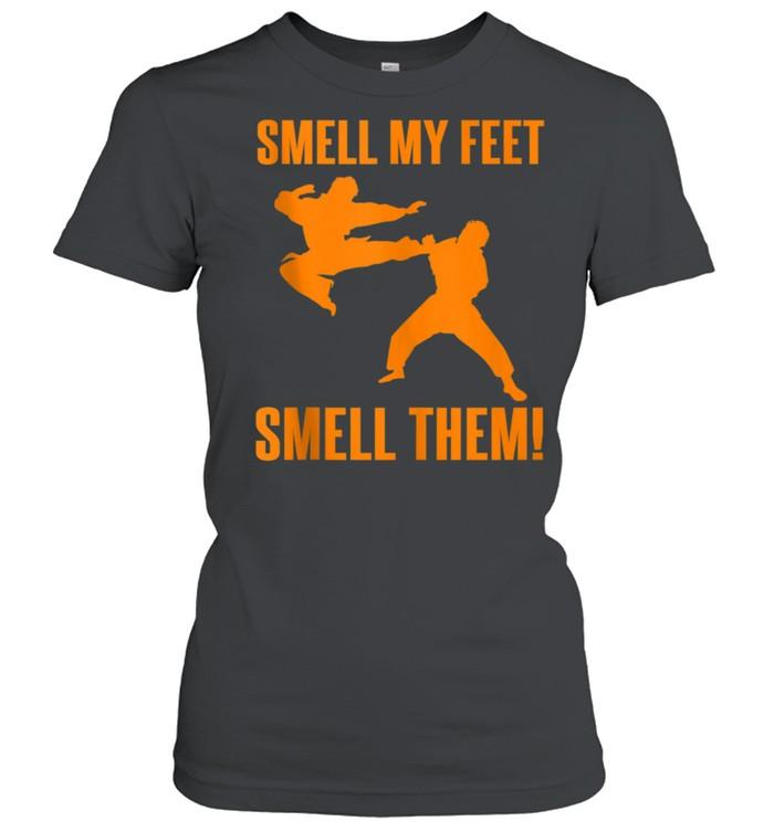 Cool Karate Girls Smell My Feet Karate shirt Classic Women's T-shirt