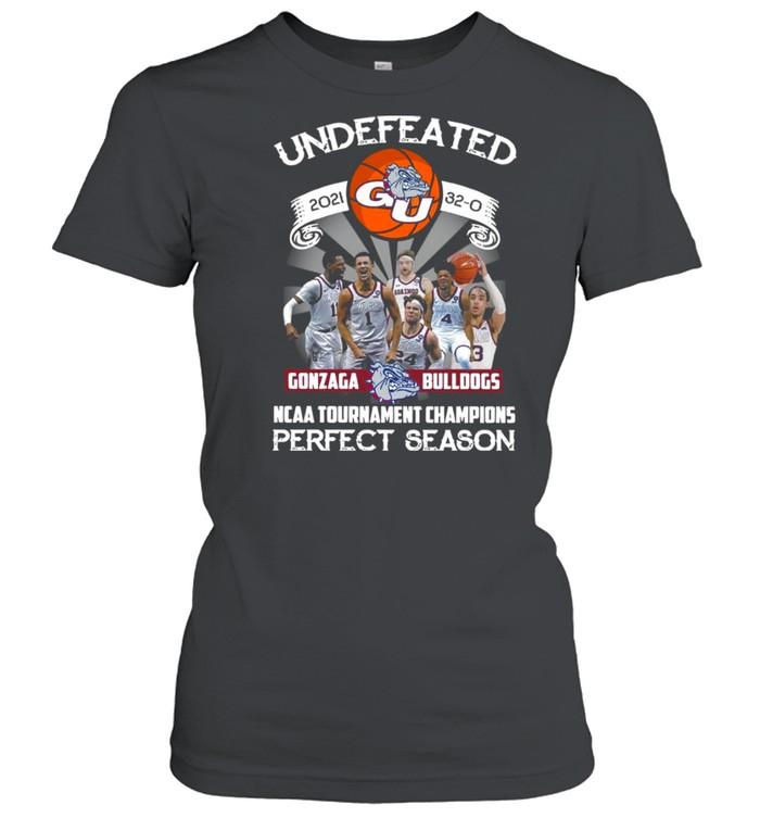 Undefeated 2021 32-0 Gonzaga Bulldogs Ncaa Tournament Champions Perfect Season  Classic Women's T-shirt