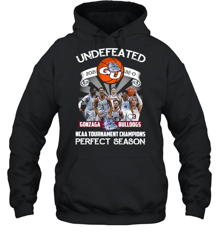 Undefeated 2021 32-0 Gonzaga Bulldogs Ncaa Tournament Champions Perfect Season  Unisex Hoodie