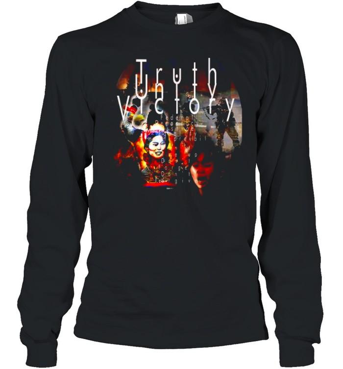 Truth Unity Victory Free Burma  Long Sleeved T-shirt