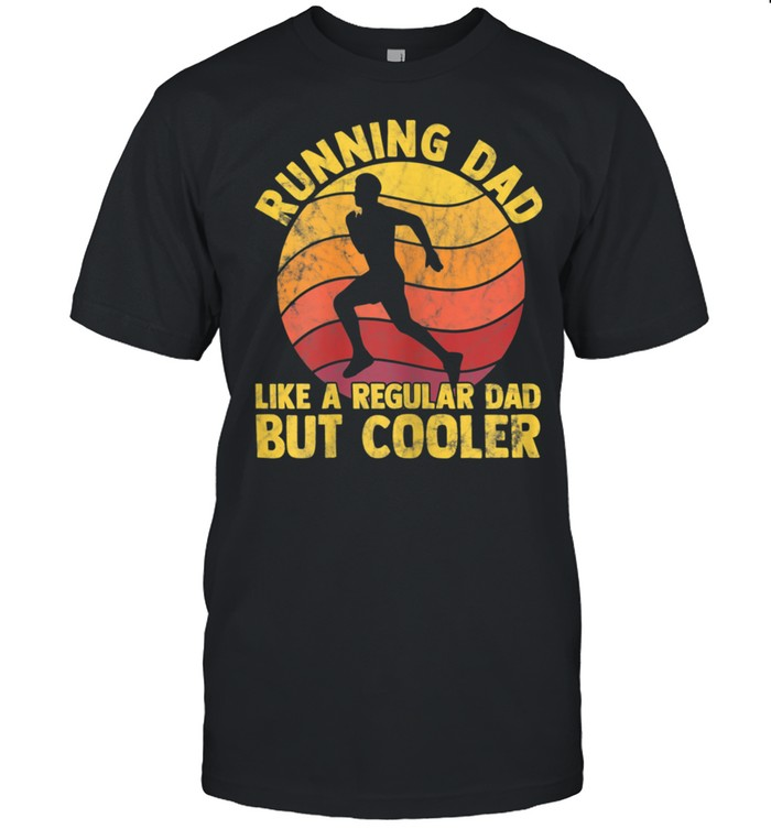Biathlon Runner Marathon Running Dad Father's Day shirt