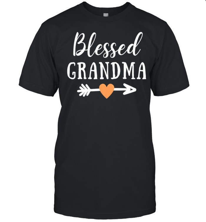 Blessed Grandma Arrow Peach Heart Grandma shirt