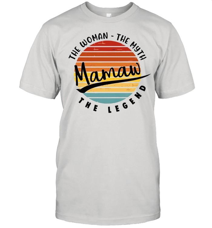 Mama The Woman The Myth The Legend Vintage Retro T-shirt
