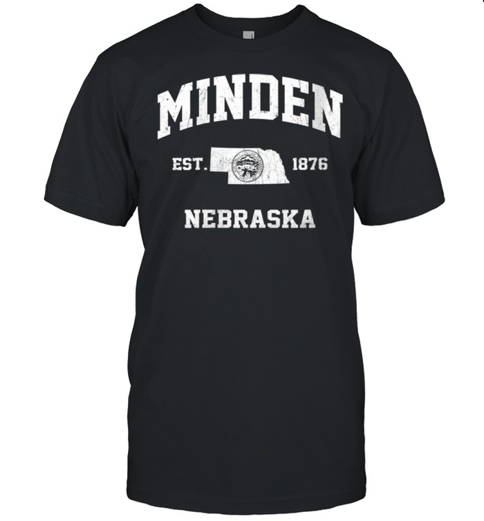Minden Nebraska NE vintage State Athletic style shirt