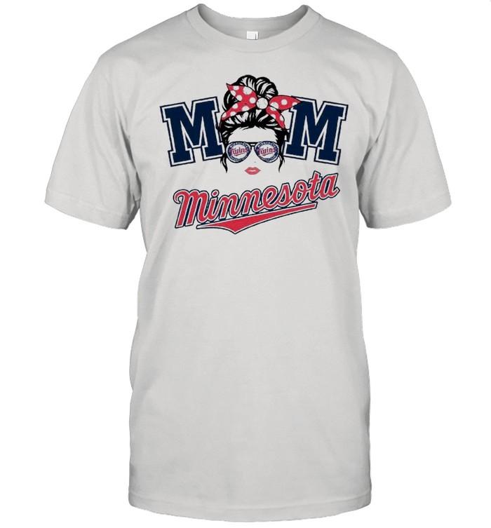 Mom Skull Minnesota Twins Baseball shirt