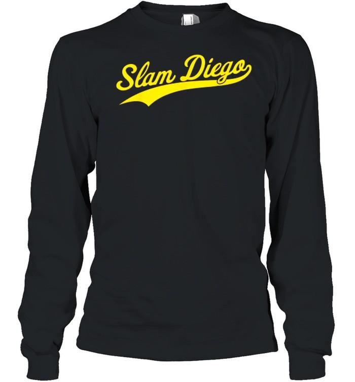 San Diego SD Slam Diego Script  Long Sleeved T-shirt