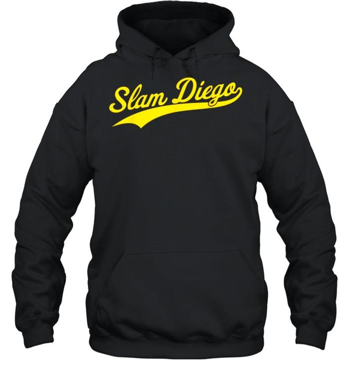 San Diego SD Slam Diego Script  Unisex Hoodie