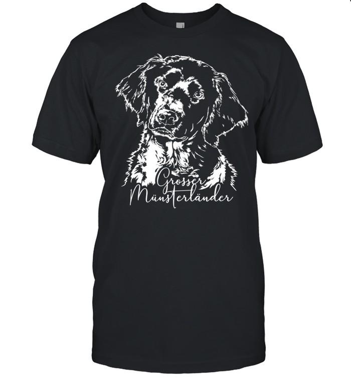 Großer Münsterländer Hund Hunderasse Hundeportrait Langarmshirt shirt