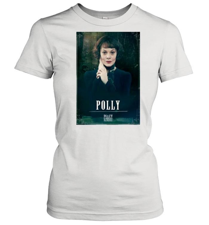 Peaky Blinders Polly Gray Rip Helen Mccrory  Classic Women's T-shirt