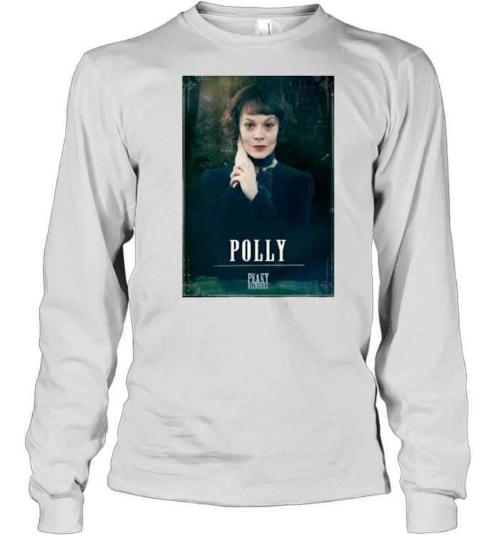 Peaky Blinders Polly Gray Rip Helen Mccrory  Long Sleeved T-shirt