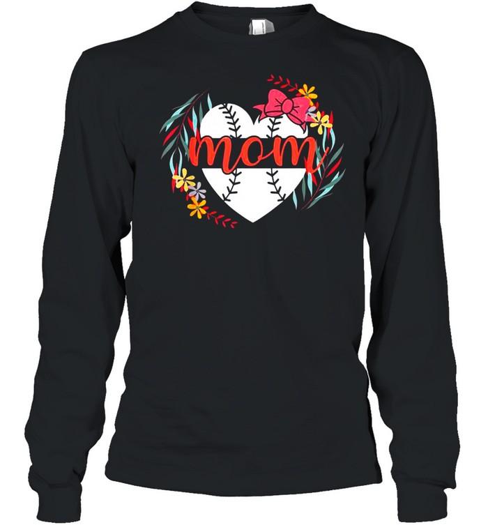 Mom Baseball s For Women Baller Mother's Day shirt Long Sleeved T-shirt