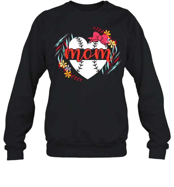 Mom Baseball s For Women Baller Mother's Day shirt Unisex Sweatshirt