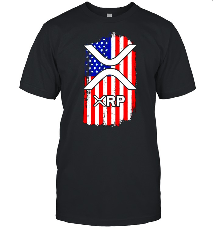 American Flag Crypto Currency XRP shirt
