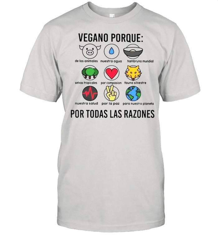 Vegano porque por todas las razones shirt Classic Men's T-shirt