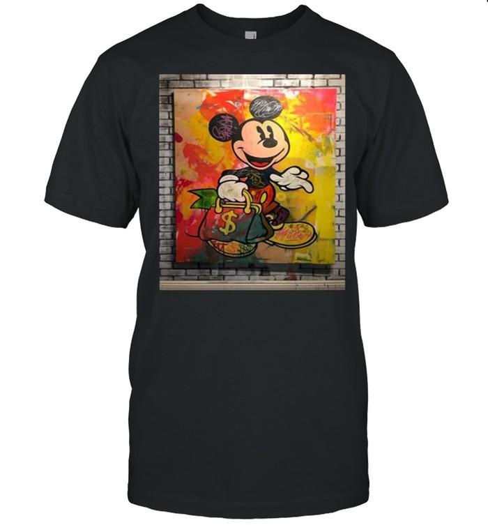 Wall Mickey Watercolor Shirt