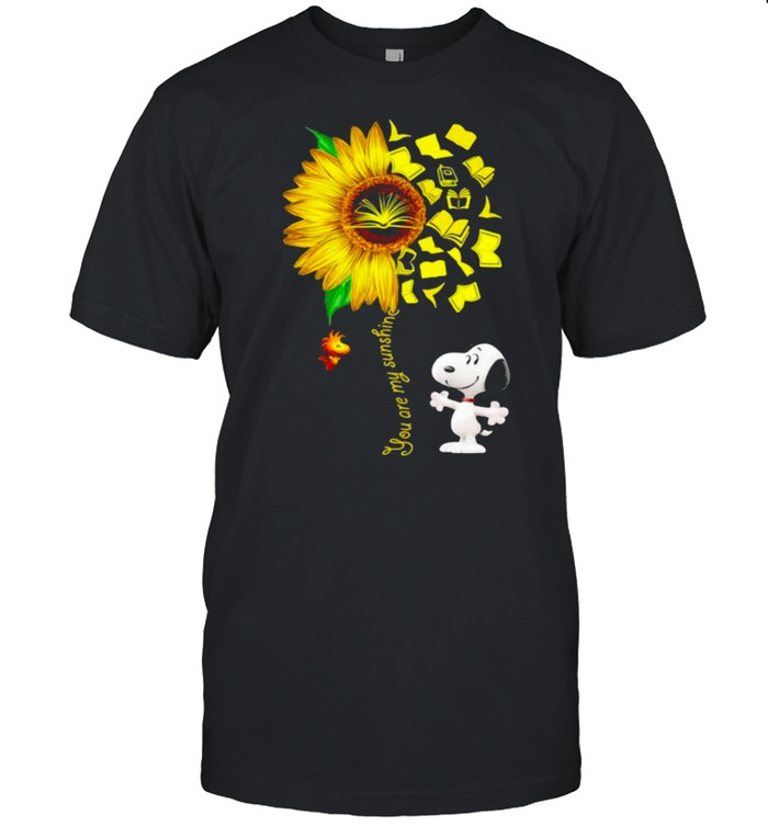 You Are My Sunshine Snoopy Woodstock Books Shirt