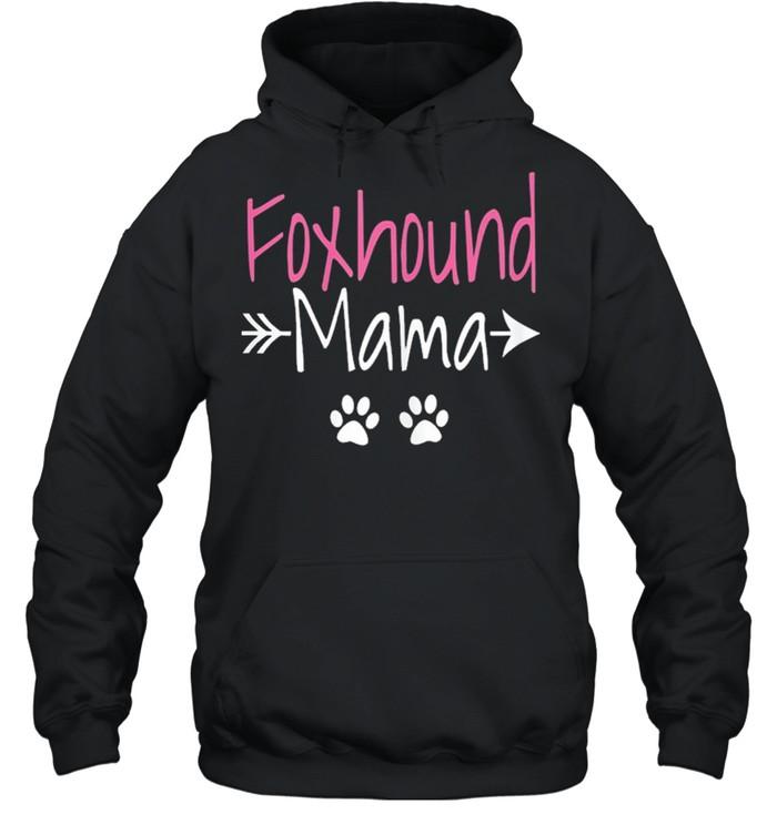 Foxhound mama American foxhound mom shirt Unisex Hoodie