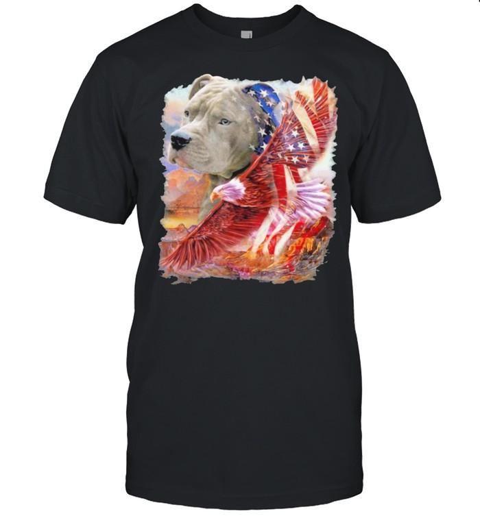 Pitbull American Patriot american flag shirt