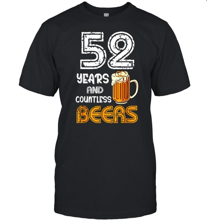 52 Wedding Anniversary Husband Drinking shirt