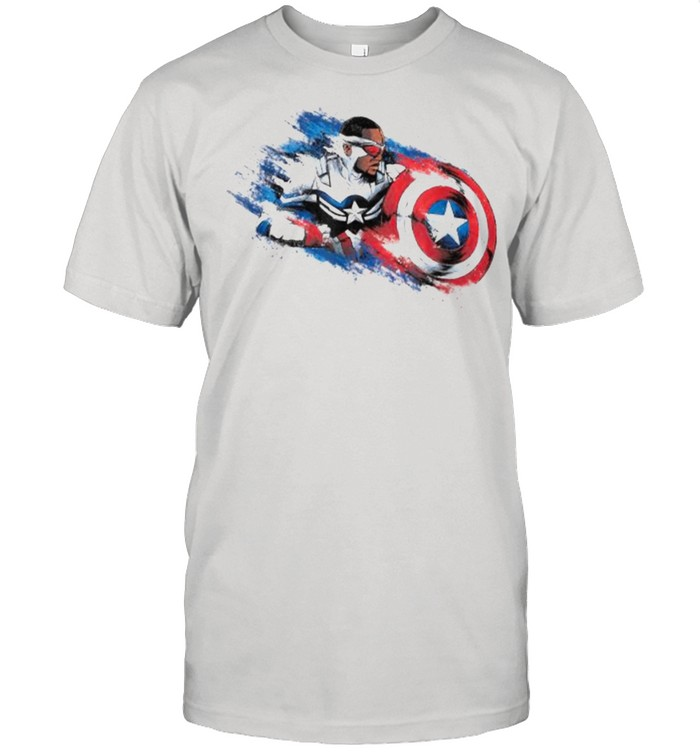 Marvel The Falcon the Winter Soldier Captain America Paint Shirt