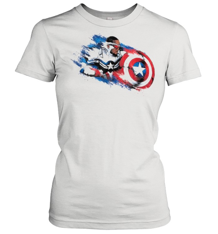 Marvel The Falcon the Winter Soldier Captain America Paint  Classic Women's T-shirt