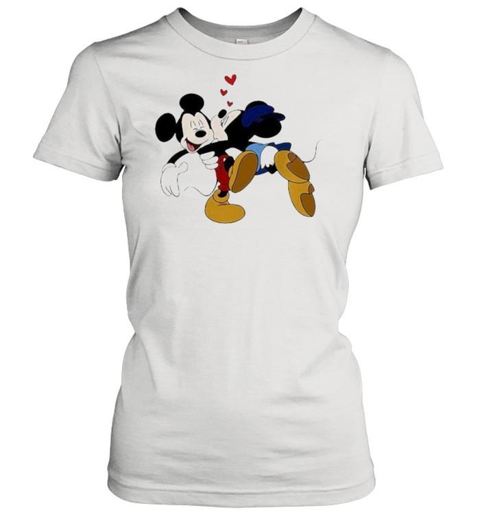 Minnie Mickey Kisses Disney  Classic Women's T-shirt