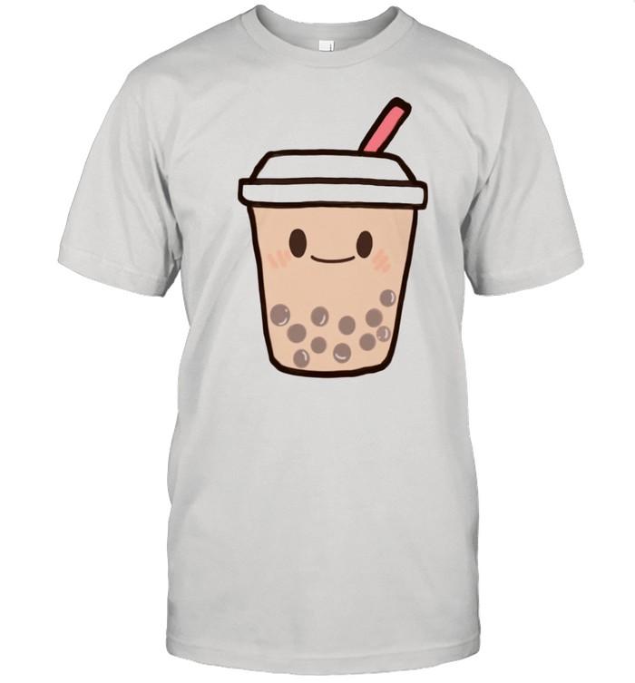 Cute Kawaii Boba Milk Tea Bubble Tapioca Pearls Tea shirt