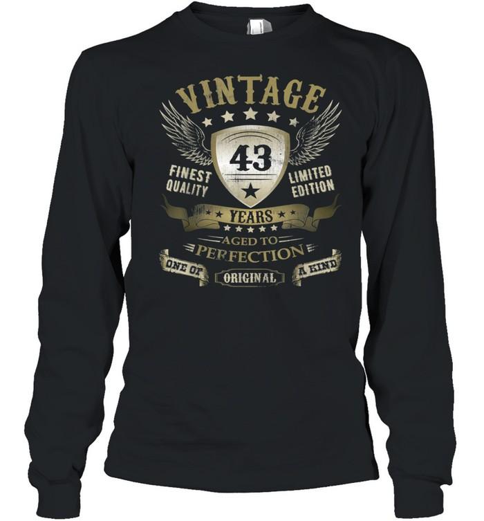 43 Geburtstag Jungen Mädchen Frauen Männer 43er 43 Jahre shirt Long Sleeved T-shirt