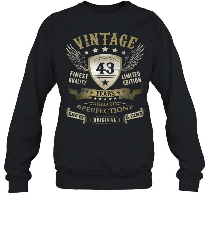 43 Geburtstag Jungen Mädchen Frauen Männer 43er 43 Jahre shirt Unisex Sweatshirt