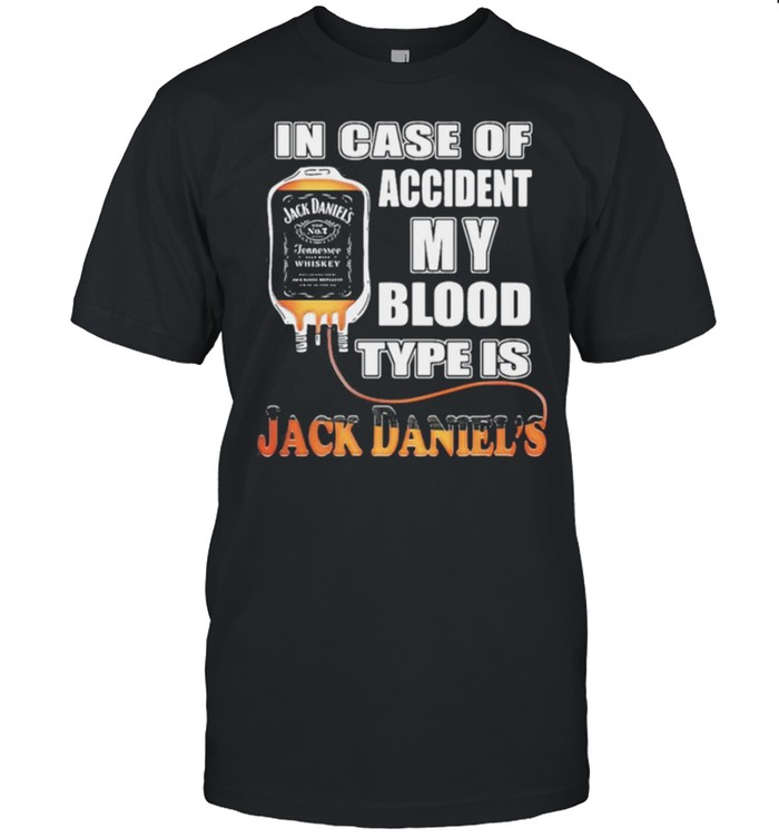 In case of accident my blood type is jack daniels shirt Classic Men's T-shirt