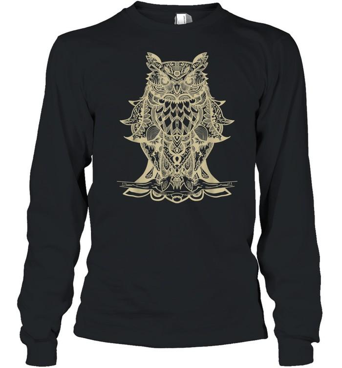 Owl Mandala shirt Long Sleeved T-shirt