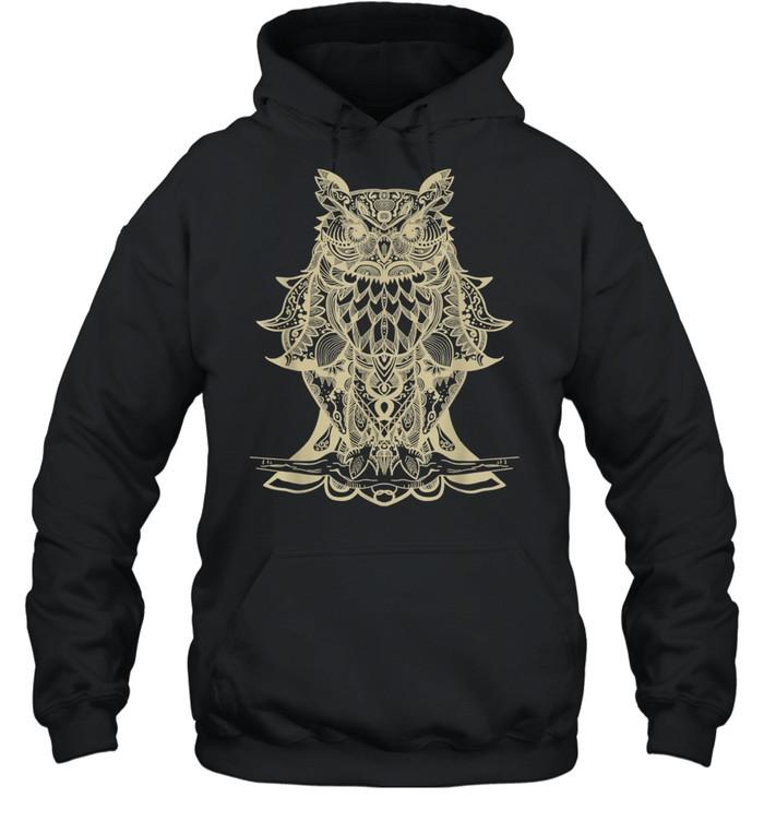 Owl Mandala shirt Unisex Hoodie