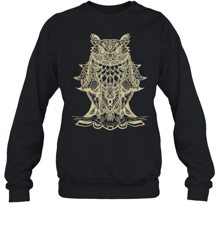 Owl Mandala shirt Unisex Sweatshirt