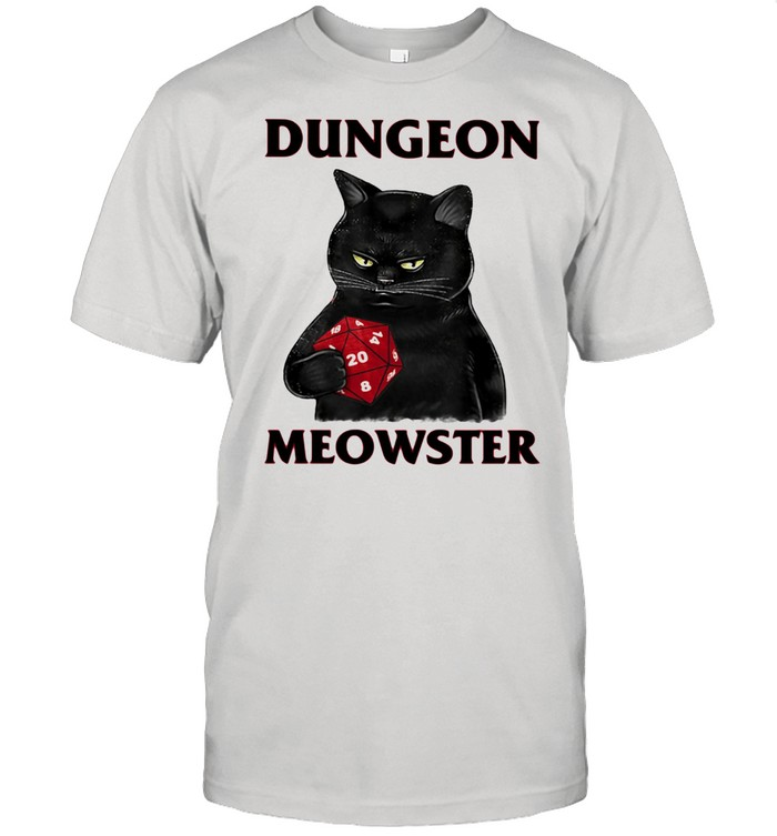 Dungeon Meowster Cat Game Shirt