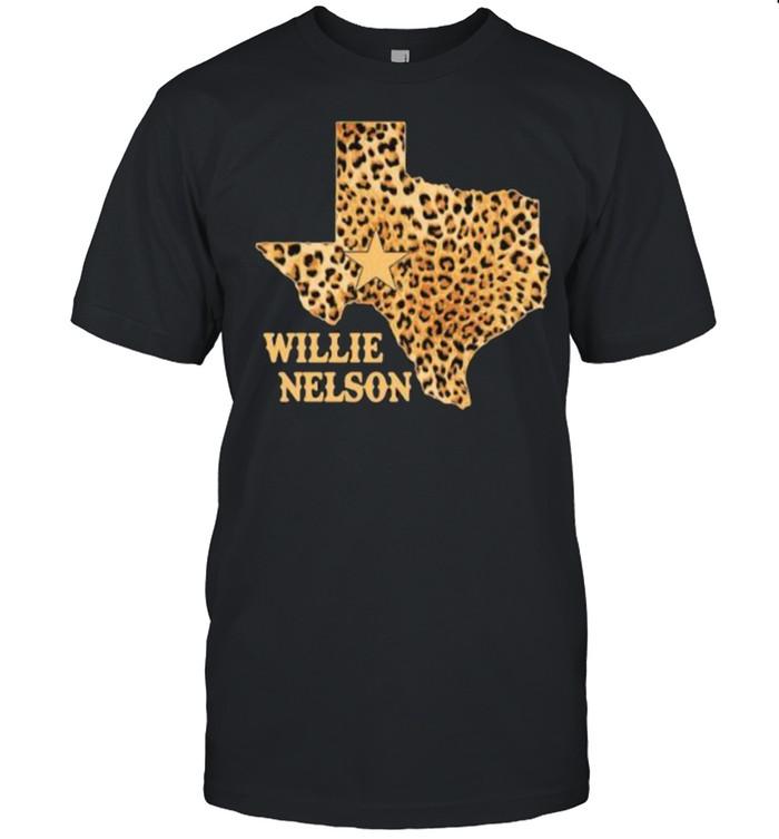 Willie Nelson Texas Leopard Shirt