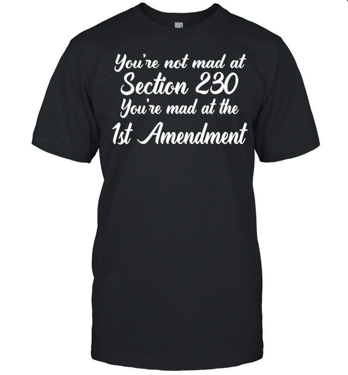 Youre mad at the section 230 youre mad at the 1st amendment shirt
