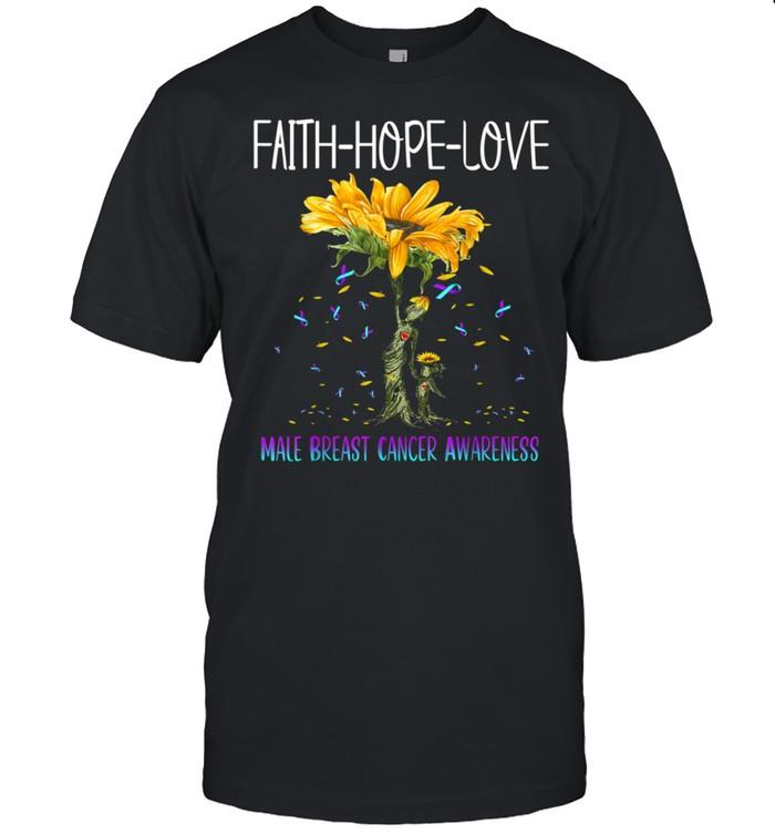 Faith Hope Love Male Breast Cancer Awareness shirt Classic Men's T-shirt