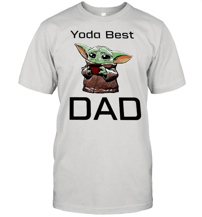 Baby Yoda Hug Coffee Best Dad Shirt