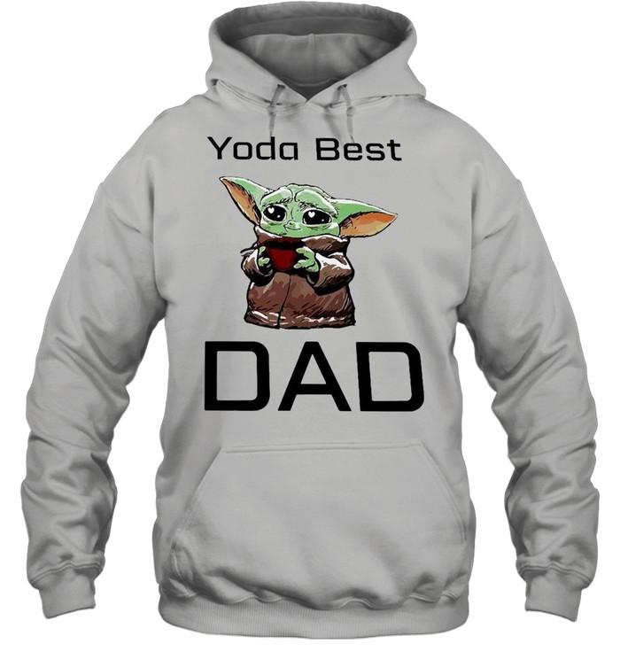 Baby Yoda Hug Coffee Best Dad  Unisex Hoodie