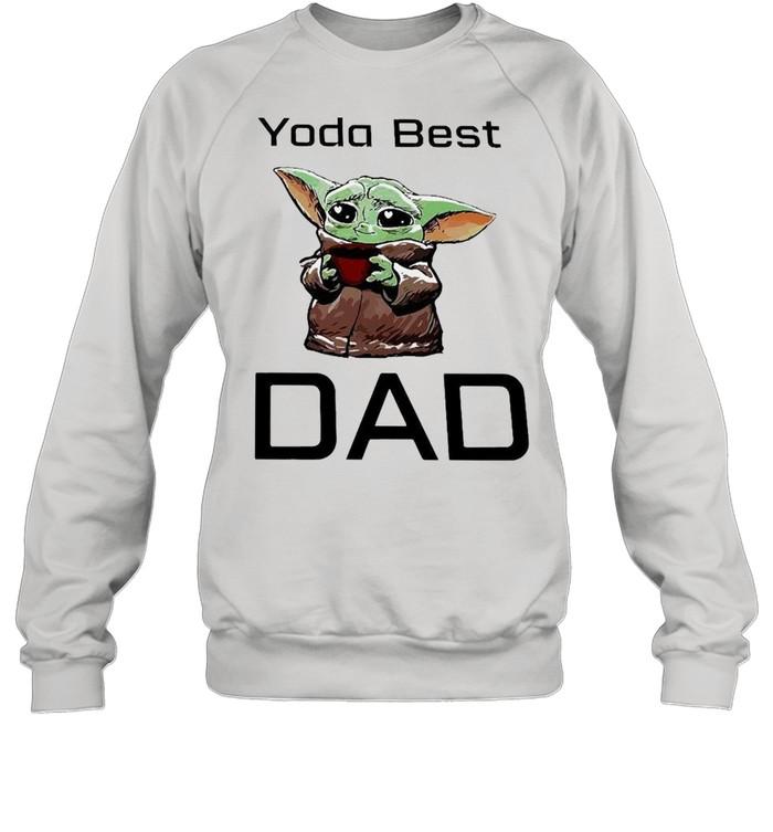 Baby Yoda Hug Coffee Best Dad  Unisex Sweatshirt
