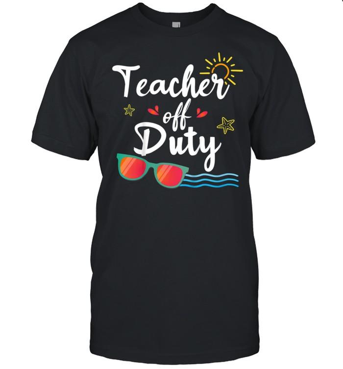 Teacher Off Duty, Sunglasses Beach SunsetSchool Teaching shirt Classic Men's T-shirt