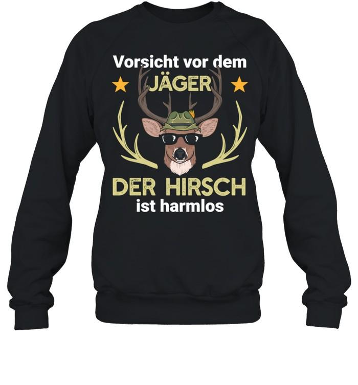 Hirsch Jäger Jagd Wald shirt Unisex Sweatshirt