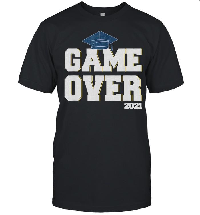 2021 graduation,Senior Gamer Game Over Grad shirt