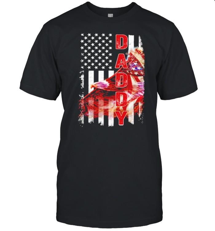 Daddy eagle flag shirt