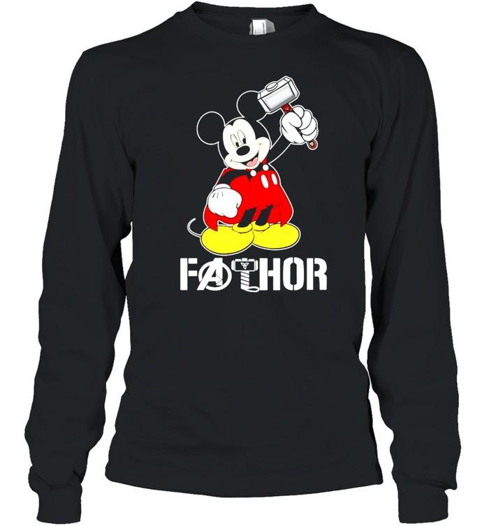Mickey Thor Fathor shirt Long Sleeved T-shirt