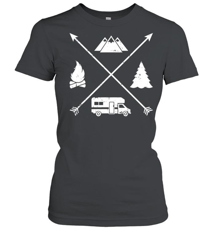 Camping hipster RV shirt Classic Women's T-shirt