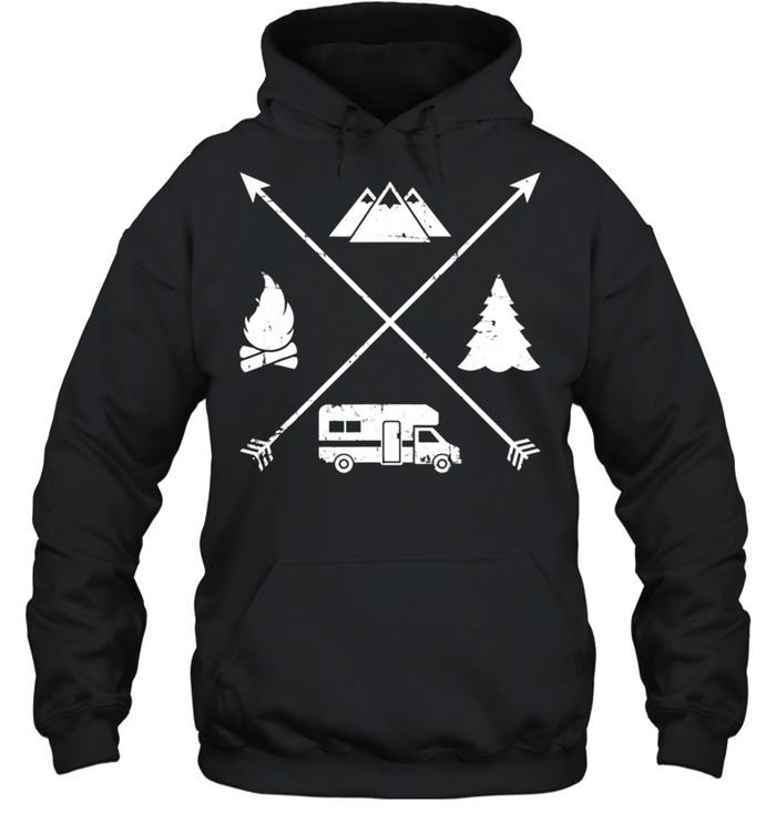 Camping hipster RV shirt Unisex Hoodie