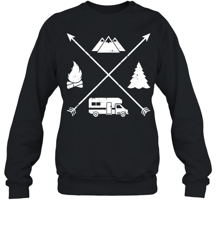 Camping hipster RV shirt Unisex Sweatshirt