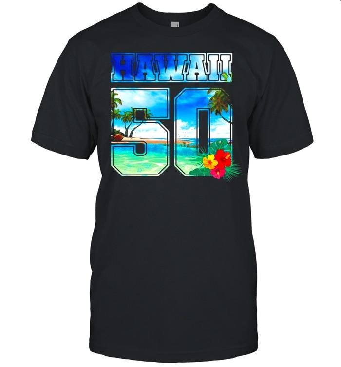 Hawaii 50Th State Hawaii Hibiscus 50 Ver2 T-shirt